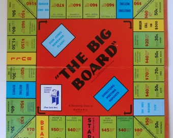 1960's  Monopoly style stock exchange THE BIG BOARD game