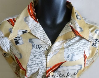 1970's 4th of July Shirt with Declaration of Independance-XL by PURITAN, in Polyester