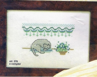 Princesse Cross Stitch Kit  378  Sleeping Cat