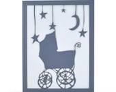 Baby Boy  - Blue - Cut Paper Greeting Card
