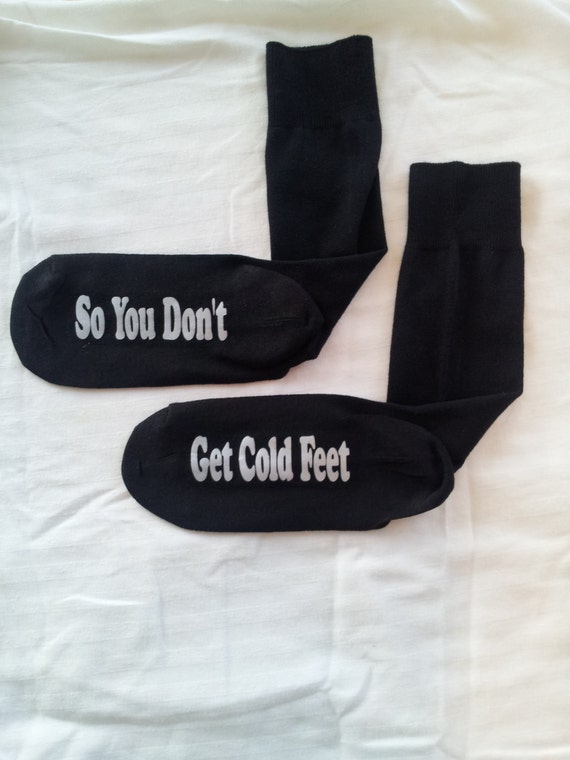 Groom Socks, So You Don't Get Cold Feet, Wedding Socks, Groom Gift with Wrap
