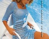 Summer Dress Crochet Pattern with Charts and Written Instruction Only  in PDF files
