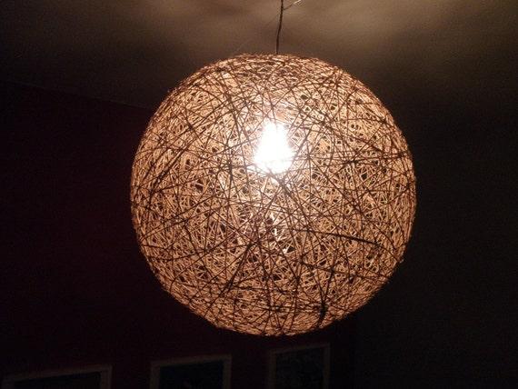 Sphere Pendant Light Bar Lighting Rustic Design Light