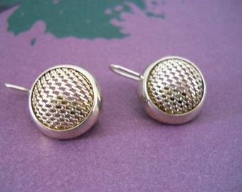 Sterling Silver Mesh Earrings