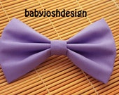 Lavender Fabric Hair bow for teens or women,girls hair bows,basic hair bows , Hair Bows