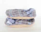 London Plaid Loafer Bison Booties Size 0 to 6 Months Newborn baby shoes size 1 Ready to Ship