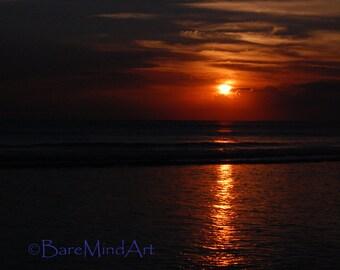 Fine Art Photography - DARK SUNSET - Sunset on Horizon Landscape Photography