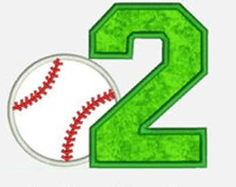 Baseball Numbers 1-9...Embroidery Applique Design...Three sizes for multiple hoops...item1169...INSTANT DOWNLOAD