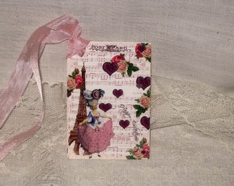 Gift Tag, Marie Antoinette Gift Tags Vintage French Market Style Original Design Love Amour MAVal009 ECS