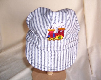 Children's Hat Train Engineer Style Handcrafted for the Little Kids