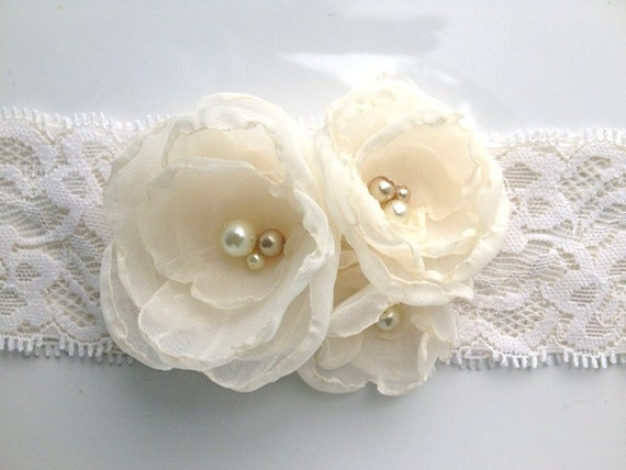 Ivory Bridal Garter: Charity