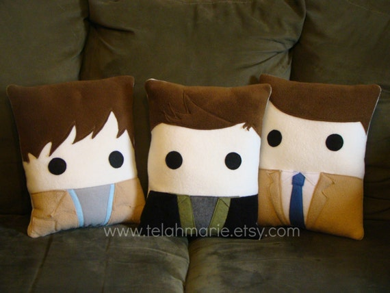 Supernatural Character Fleece Pillows by Heart Felt Design