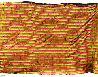 Kente Handwoven Man's Cloth Ghana African Textile 66586 SALE WAS 395