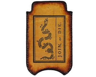 iPhone Leather Sleeve - Join or Die