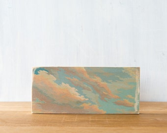 Paint by Number Art Block 'Cloudy Sky', clouds, sky, vintage art, wall decor