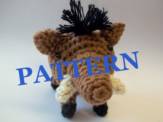 Crochet Patterns Zoo Animals : ... Pattern - Warthog - Zoo Animal - Wild Boar - Crochet Pattern on Etsy