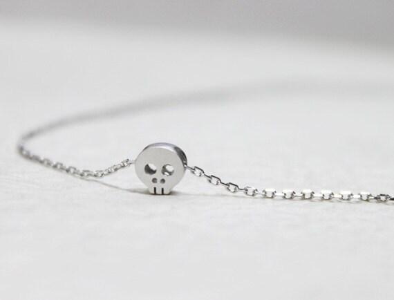 Cute Tiny Baby Skull Necklac - S2200 -2