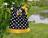 Bumble bee pillowcase dress