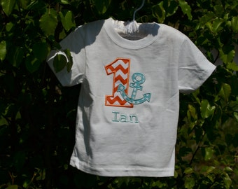 Personalized Nautical Birthday Tee Ages 1-8