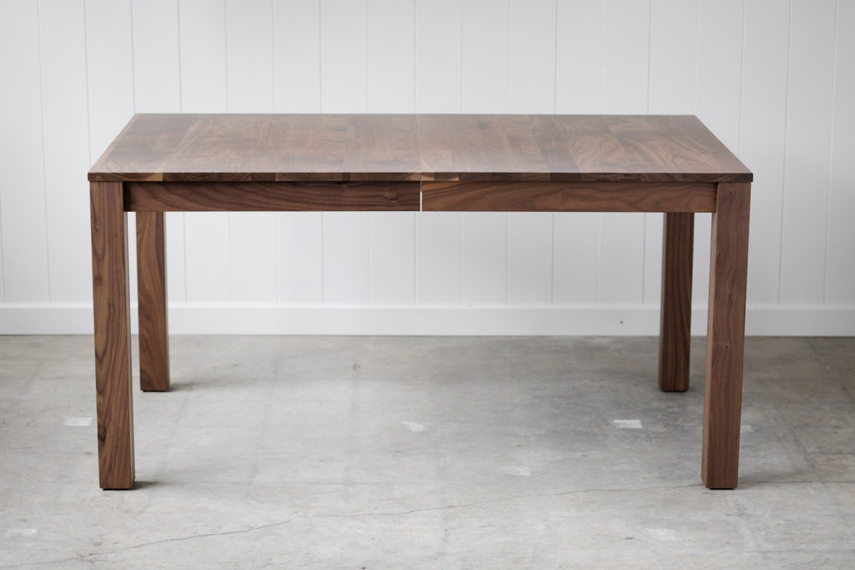 Parsons Dining Table Solid Walnut Extension Table Seats 10