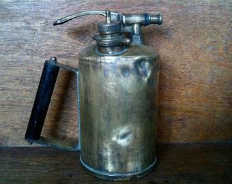 Vintage English Blow Torch Tool or Sprayer Squirter circa 1910-20's / English Shop