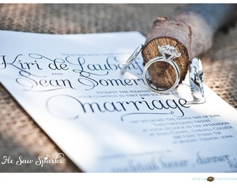 Lovely Script Wedding Invitation Package (Printable) DIY