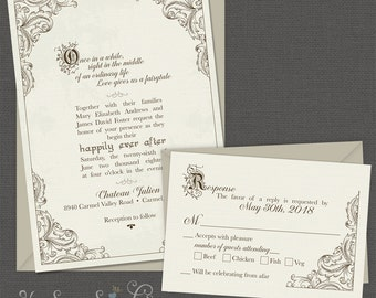 Superieur FairyTale Printable Wedding Invitation   Happy Endings