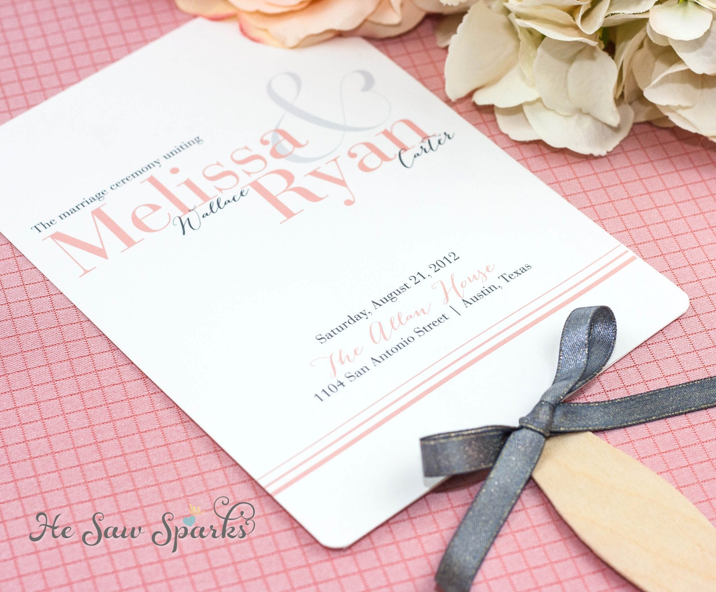 Free wedding paddle fan program template mini bridal for Paddle fan template