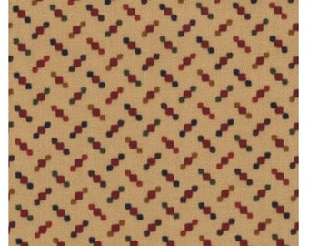1 yard Pheasant Hill Tan Floral Turkey Track by Kansas Troubles Quilters for Moda