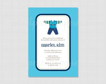 Korean Dol Hanbok Collection : Printable Invitation File