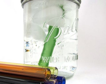 Smoothie Jar To Go Cup with Glass Straw- 16 ounce
