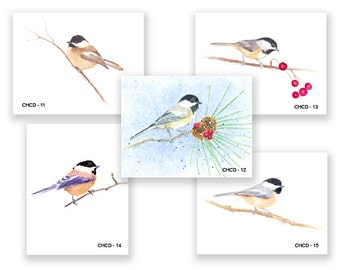 Lil Chickadee Bird Group Note Cards, five blank note cards w/ envelopes.