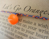Love my Orange Inspired Wish Bracelet