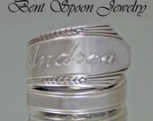 Engraved Spoon Ring, Silver Spoon Jewelry, Personalized Spoon Ring, Silverware Jewelry, Personalized Jewelry, Personalized Gifts