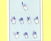 SIGN LANGUAGE Of LOVE - I  Love You Card - Love Card - Funny Valentine Card - Funny Valentine - Funny Love Card - Love Card Funny