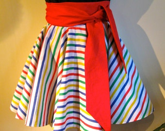 CUSTOM extra full circle skirt wraps around and around, it is reversible too