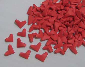 Small Origami Hearts (100) Red Paper Hearts