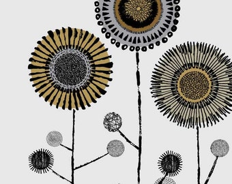 Circle Stems, limited edition giclee print