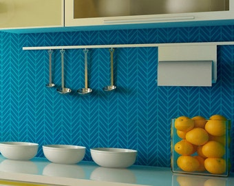 Zig Zag Wall Stencil - Paint Herringbone Pattern for a Wallpaper Backsplash or Furniture Upcycle