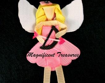 Girl Cupid Sculpted Ribbon Hair Clip or Pin