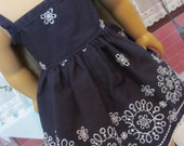 Navy Embroidered  Sundress , American Girl Doll Clothes