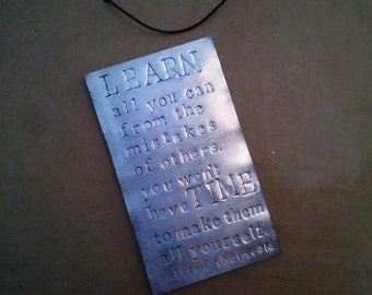 Upcycled Pop Can Large Quote Magnet