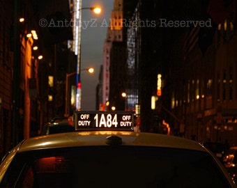 Hailing a Taxi Cab in New York City 8x10 Fine Art Print