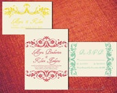 Wedding Save The Date Card Design RUSTIC FLOURISH Printable Pdf / Print Order Template Country Classic Preppy Elegant Online Invitation Set