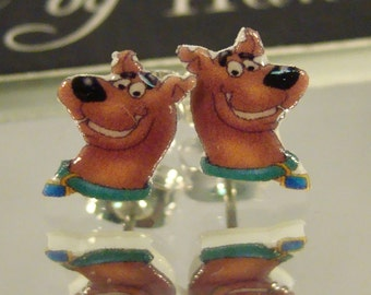 Scooby Doo Cartoon Nostaligia Stud Earrings - surgical steel