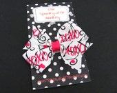 Small XOXO Valentine Pinwheel Bow