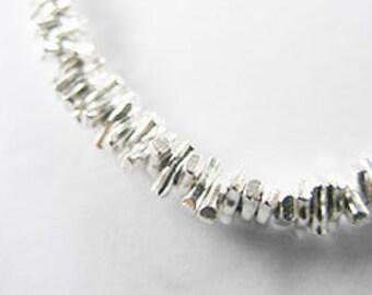 60 of Karen Hill Tribe Silver Stick Beads 1.2x4.3mm. :ka3397