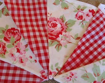 Rosali Floral & Gingham Cotton Fabric Bunting
