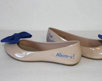 Doctor Who Allons-y flats with bowties