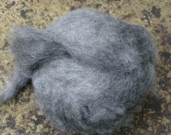 FIBER BLEND of PYGORA and Merino Charcoal Gray